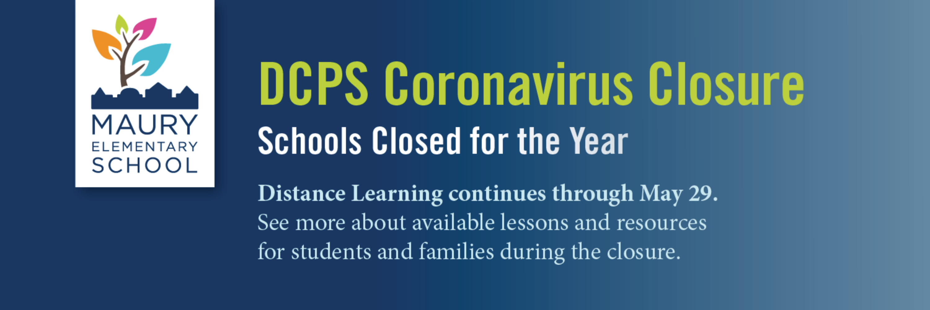 DCPS Coronavirus Closure